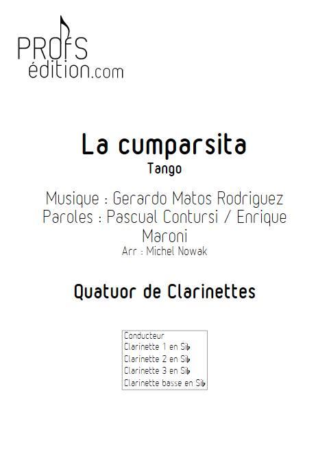 La Cumparsita - Quatuor de Clarinettes - RODRIGUEZ G. M. - front page
