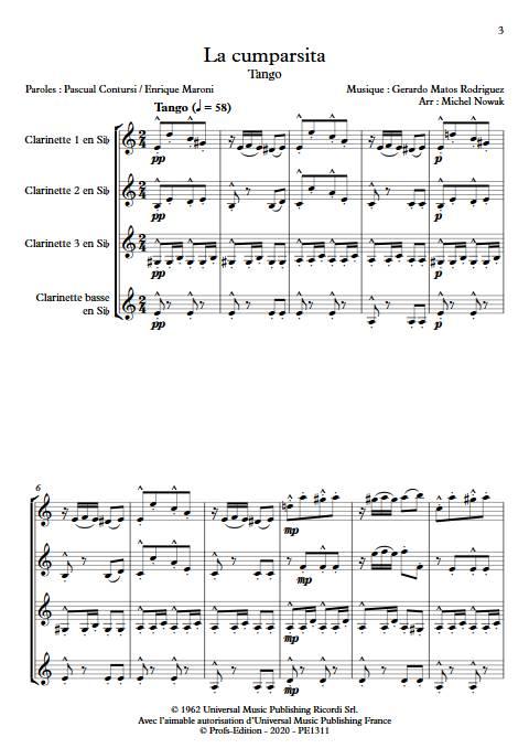 La Cumparsita - Quatuor de Clarinettes - RODRIGUEZ G. M. - app.scorescoreTitle