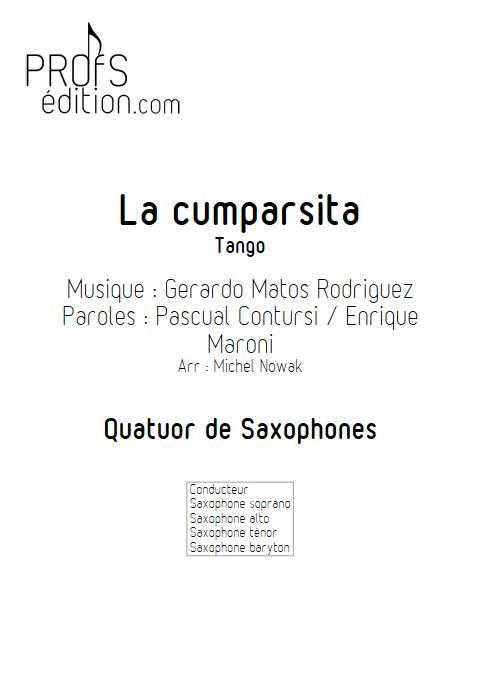 La Cumparsita - Quatuor de Saxophones - RODRIGUEZ G. M. - front page