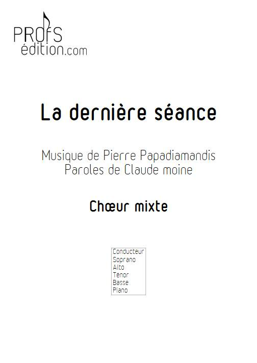 La dernière séance - Choeur mixte - PAPADIAMANDIS P. - front page