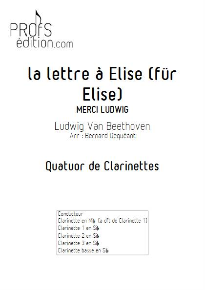 La lettre à Elise - Quatuor de Clarinettes - BEETHOVEN L. V. - front page