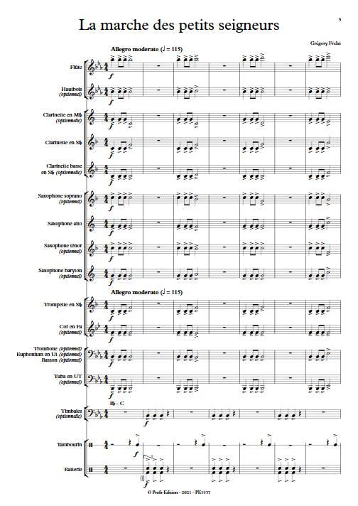 La marche des petits seigneurs - Orchestre d'Harmonie - FRELAT G. - app.scorescoreTitle