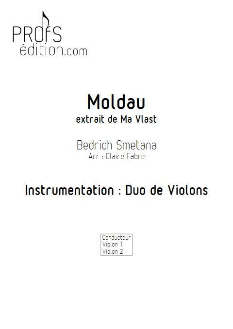 La moldeau - Duo de Violons - SMETANA B. - front page