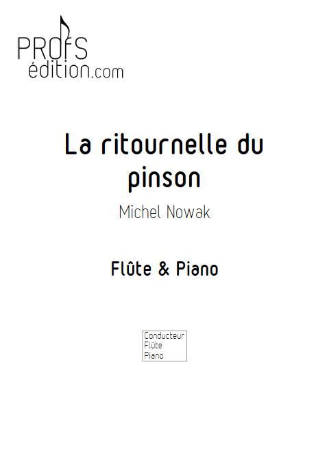 La ritournelle du pinson - Flûte & Piano - NOWAK M. - front page