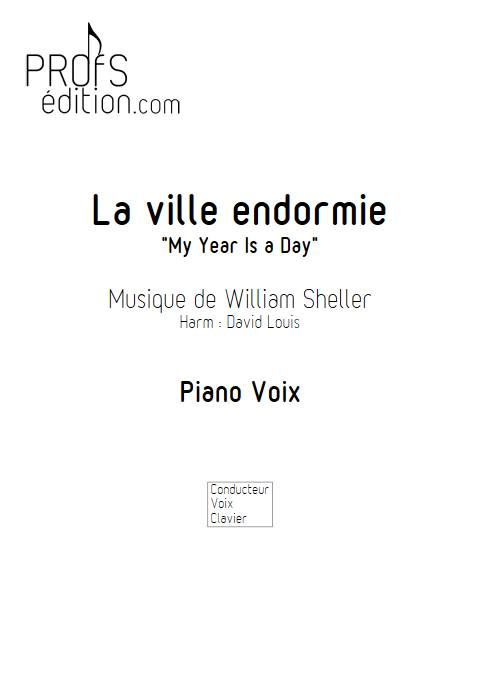 La ville endormie (My year is a day) - Piano Voix - SHELLER W. - front page