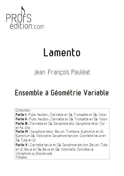 Lamento - Ensemble Variable - PAULEAT J. F. - front page