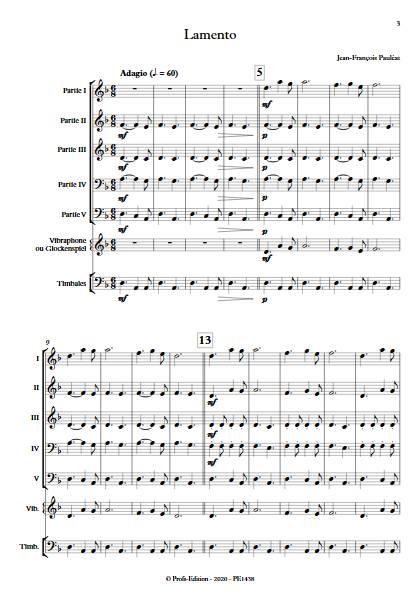 Lamento - Ensemble Variable - PAULEAT J. F. - app.scorescoreTitle
