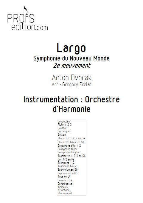 Largo (Symphonie du nouveau monde) - Orchestre d'Harmonie - FRELAT G. - front page