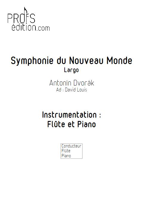 Symphonie du Nouveau Monde (Largo) - Flûte et Piano - DVORAK A. - front page