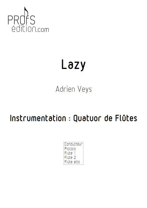 Lazy - Quatuor de Flûtes - VEYS A. - front page