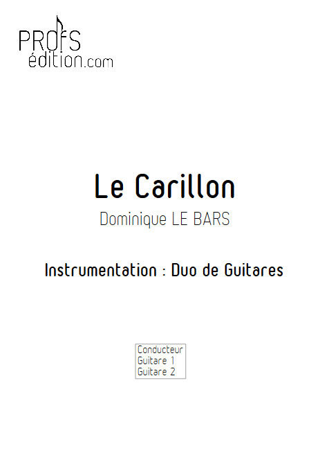 Le Carillon - Duos Guitare - LE BARS D. - front page