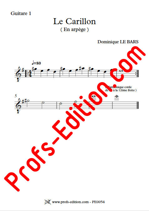 Le Carillon - Duos Guitare - LE BARS D. - app.scorescoreTitle