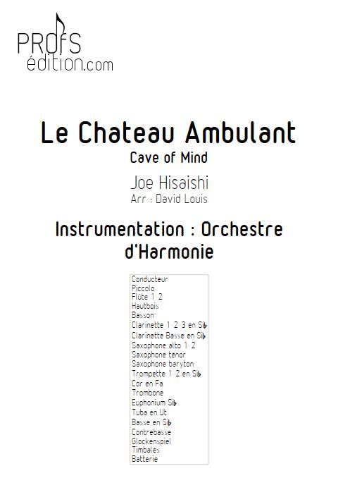 Le Château Ambulant (Cave Of Mind) - Orchestre d'Harmonie - HISAISHI J. - front page