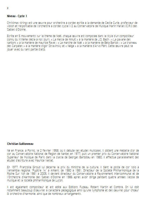 Le Traineau des Carpates - Orchestre Cordes - GUILLONNEAU C. - Educationnal sheet