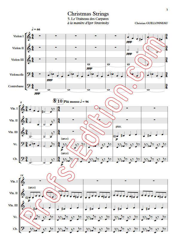 Le Traineau des Carpates - Orchestre Cordes - GUILLONNEAU C. - app.scorescoreTitle