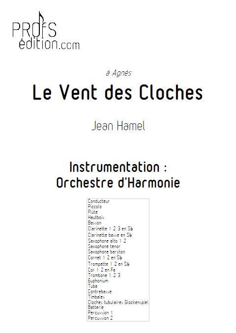 Le vent des cloches - Orchestre d'Harmonie - HAMEL J. - front page
