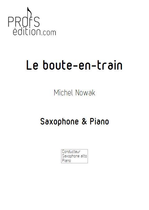 Le Boute-en-train - Saxophone & Piano - NOWAK M. - front page