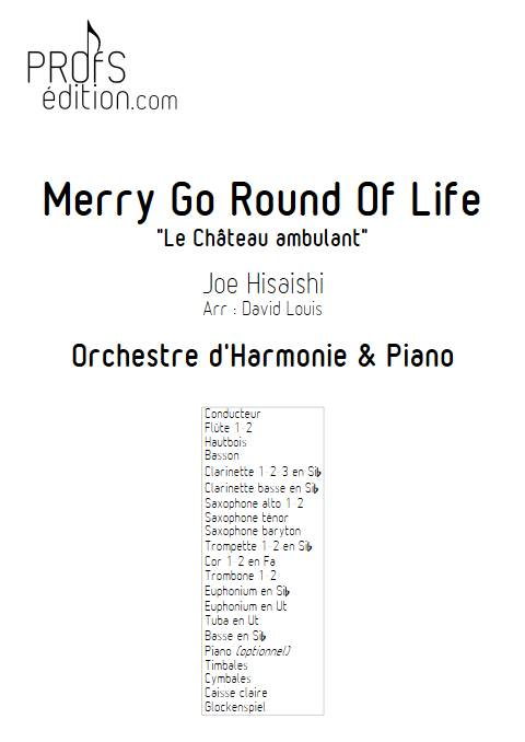 Merry go round of life (Le chateau ambulant) - Orchestre d'Harmonie - HISAISHI J. - front page