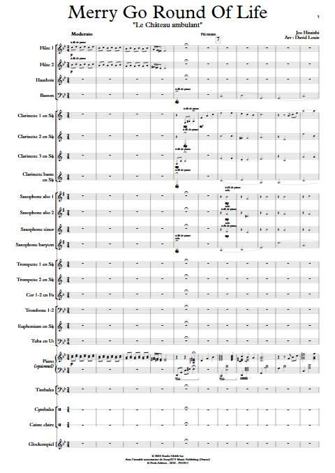 Merry go round of life (Le chateau ambulant) - Orchestre d'Harmonie - HISAISHI J. - app.scorescoreTitle