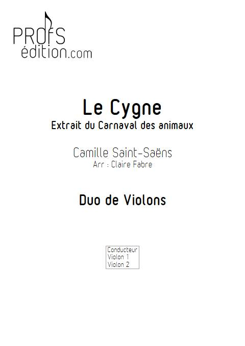 Le Cygne - Duo de Violons - SAINT-SAENS C. - front page