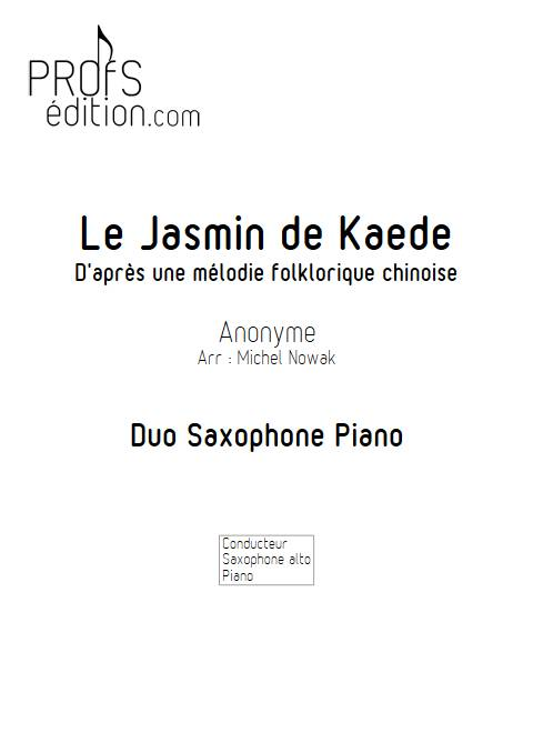 Le Jasmin de Kaede - Saxophone Piano - ANONYME - front page