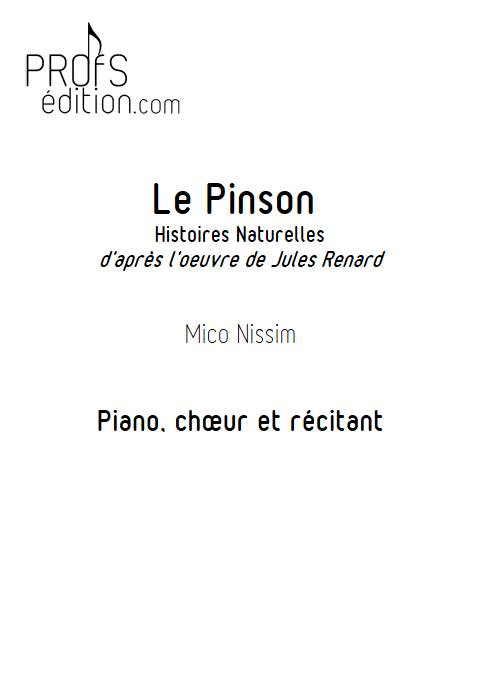 Le Pinson - Chœur et Piano - NISSIM M. - front page
