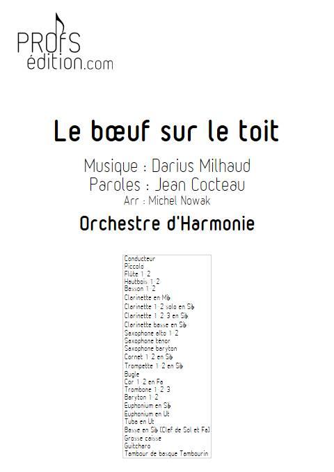 Le bœuf sur le toit - Orchestre d'Harmonie - MILHAUD D. - front page