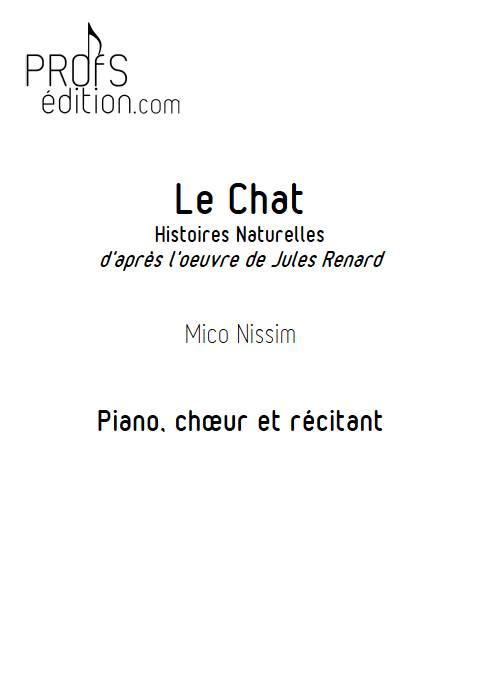 Le Chat - Chœur et Piano - NISSIM M. - front page