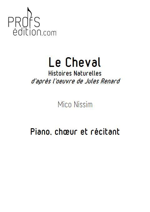 Le Cheval - Chœur et Piano - NISSIM M. - front page