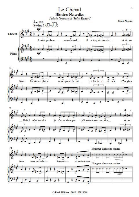 Le Cheval - Chœur et Piano - NISSIM M. - app.scorescoreTitle