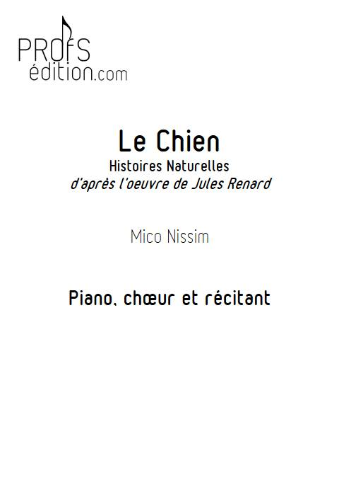 Le Chien - Chœur et Piano - NISSIM M. - front page