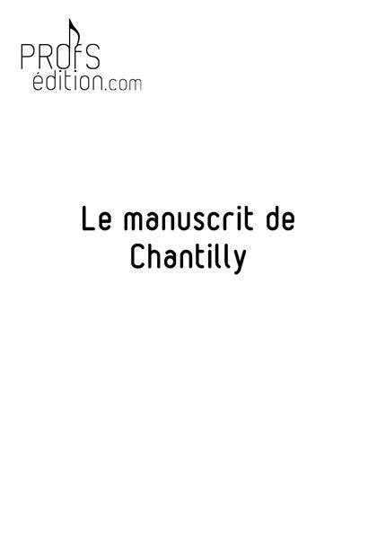 Le manuscrit de Chantilly - Poster - CHARLIER C. - front page