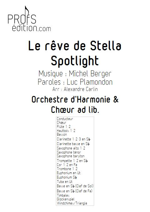 Le rêve de Stella - Chœur & Orchestre d'Harmonie - BERGER M. - front page