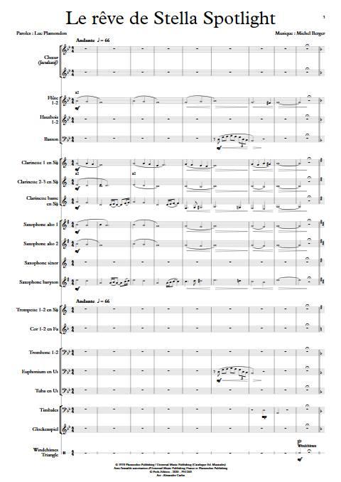 Le rêve de Stella - Chœur & Orchestre d'Harmonie - BERGER M. - app.scorescoreTitle
