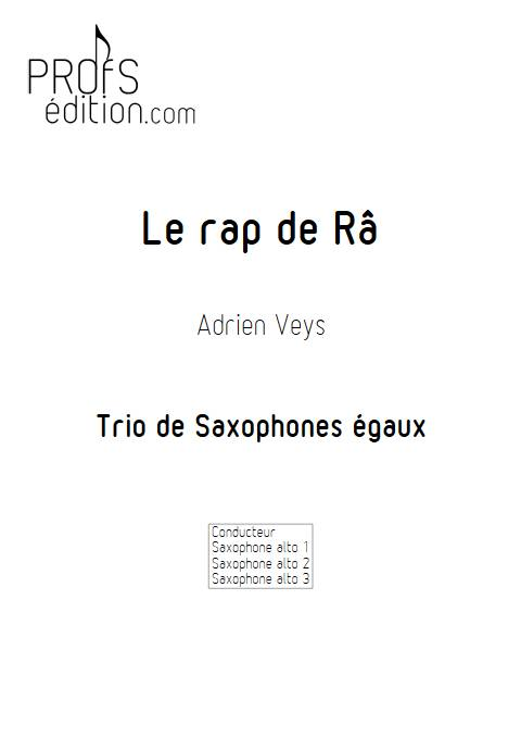 Le rap de Râ - Trio de Saxophones - VEYS A. - front page