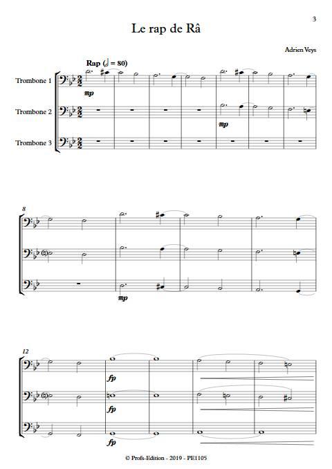 Le rap de Râ - Trio de Trombones - VEYS A. - app.scorescoreTitle