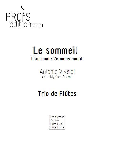 Le sommeil - Trio de FLûtes - VIVALDI A. - front page