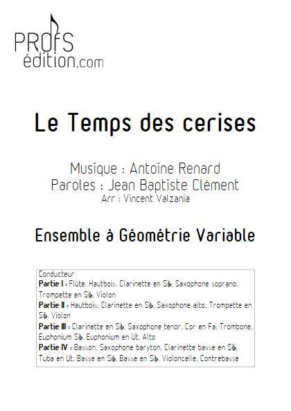 Le temps des cerises - Ensemble Variable - RENARD A. - front page