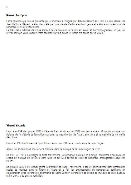 Le temps des cerises - Ensemble Variable - RENARD A. - Educationnal sheet