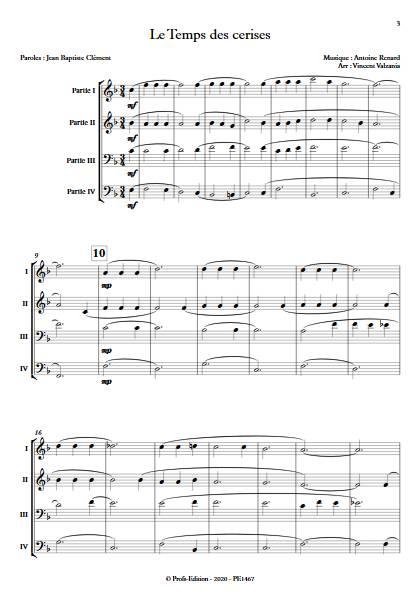 Le temps des cerises - Ensemble Variable - RENARD A. - app.scorescoreTitle