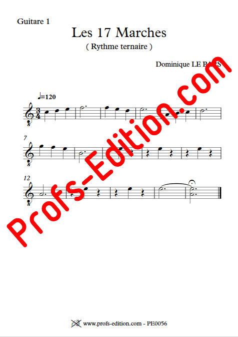 Les 17 Marches - Duos Guitare - LE BARS D. - app.scorescoreTitle