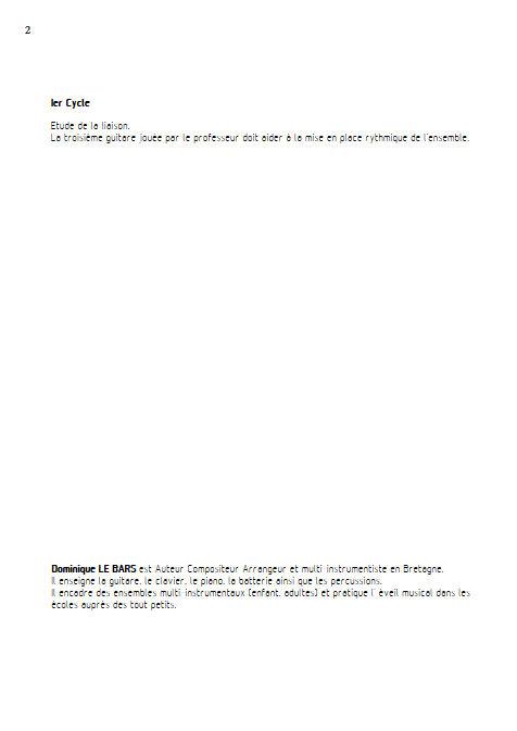Les Liaisons Dangereuses - Trios Guitare - LE BARS D. - Educationnal sheet