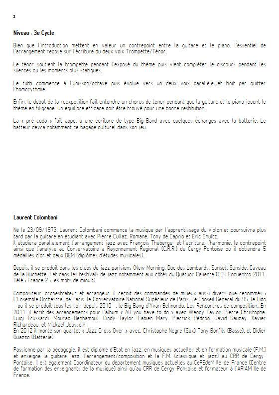 Les Roses de Picardie - Sextette Jazz - WOOD H. - Educationnal sheet