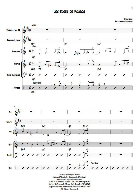Les Roses de Picardie - Sextette Jazz - WOOD H. - app.scorescoreTitle