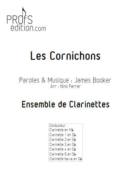 Les Cornichons - Ensemble de Clarinettes - BOOKER J. - front page