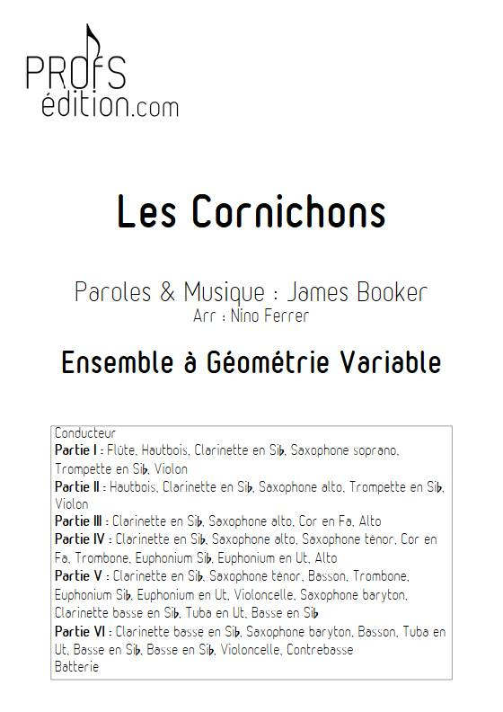 Les Cornichons - Ensemble Variable - BOOKER J. - front page