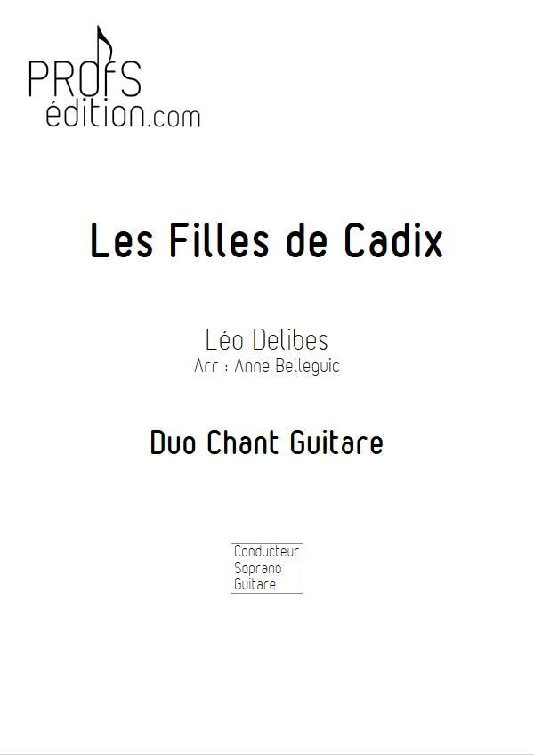 Les Filles de Cadix - Guitare et Voix - DELIBES L. - front page