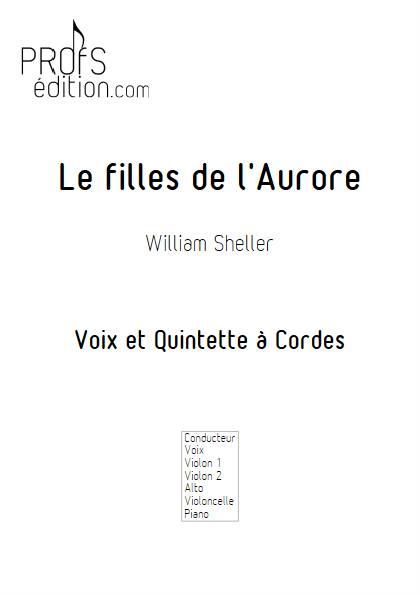 les filles de l'aurore - Chant et Quintette à Cordes - SHELLER W. - front page