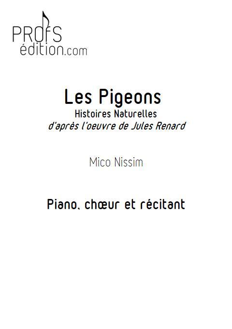 Les Pigeons - Chœur et Piano - NISSIM M. - front page