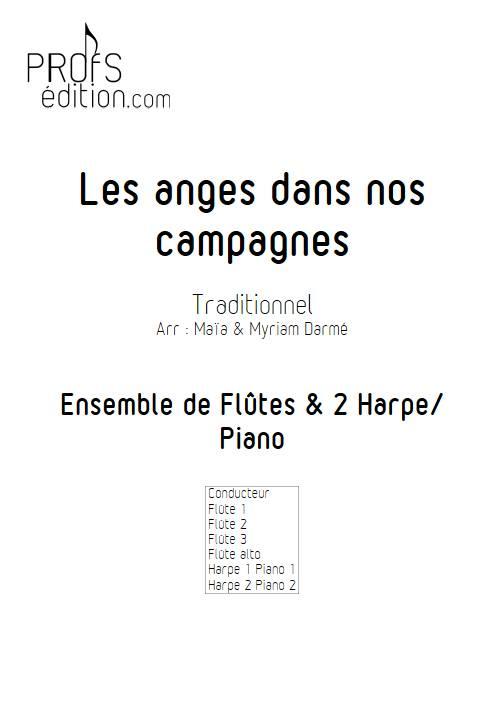 Les anges dans nos campagnes - Ensemble de flûtes et 2 harpes - TRADITIONNEL FRANÇAIS - front page